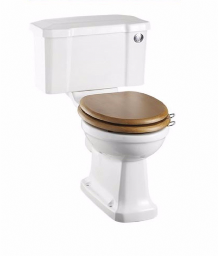 Burlington Traditional Close Coupled Wc, Toilet Pan, Push Button Cistern & Optional Seat